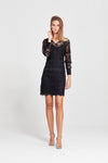 Sofia Dress - Black Lace Sleeve - Yvonne Bennetti
