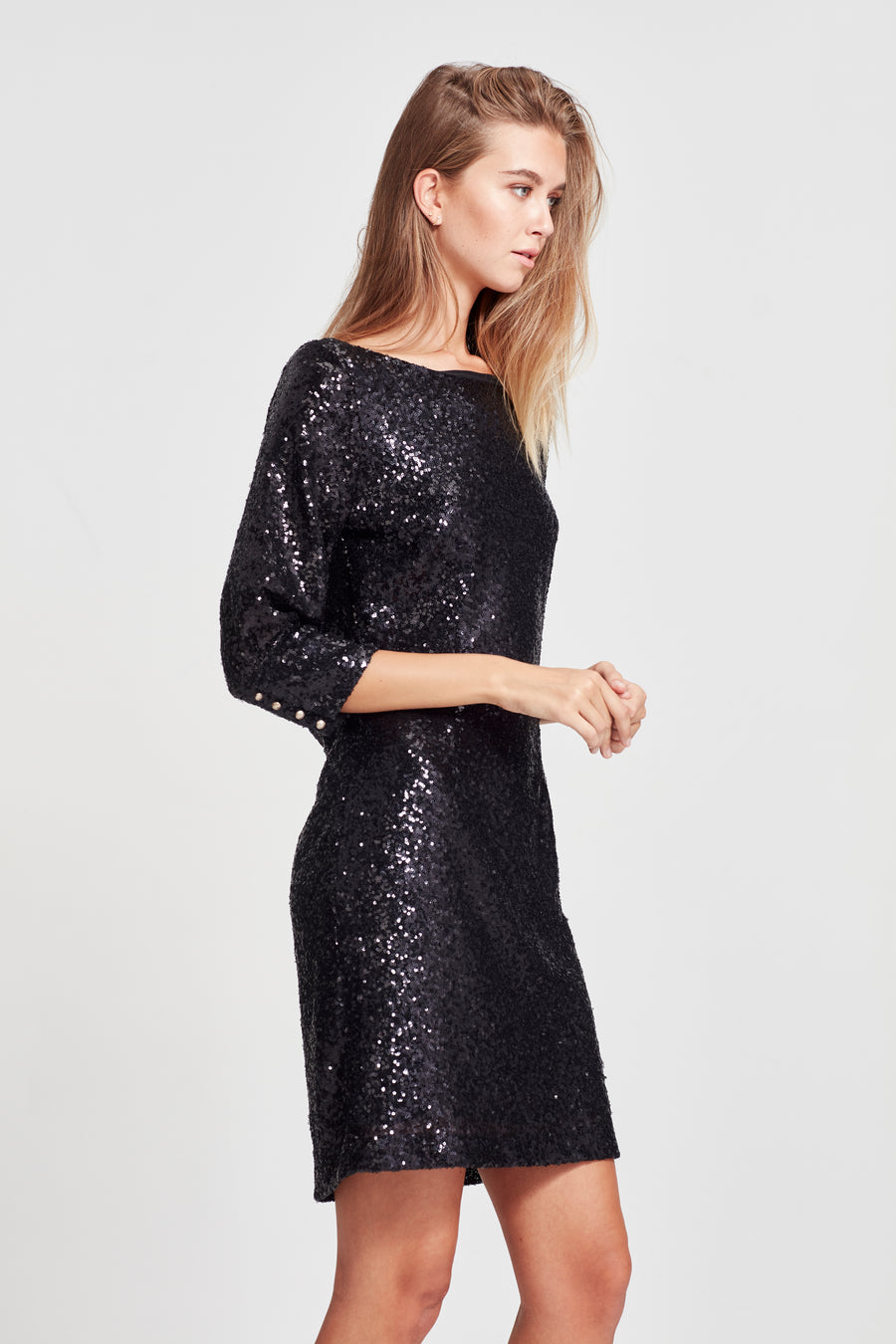 Yves Dress - Black Sequin - Yvonne Bennetti