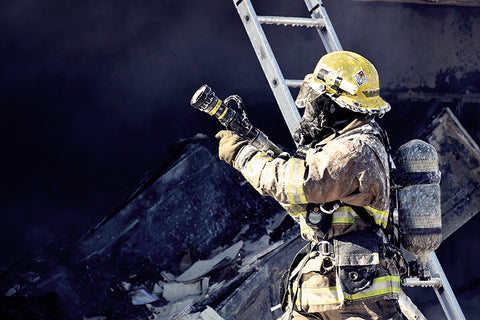 Firefighter helping