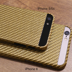 100% Carbon Fiber iPhone 5/5S Case (GOLD)