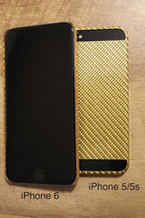 100% Carbon Fiber iPhone 6/6S Case (GOLD)