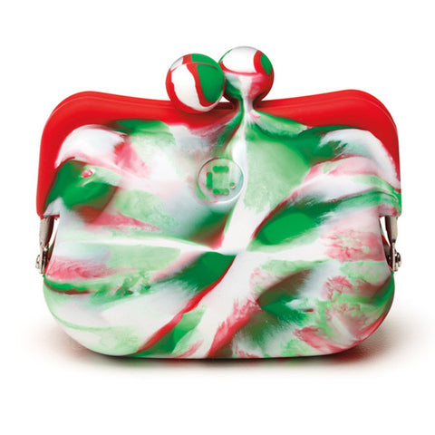 Candy Store Silicone Coin Purse - Candy Cane Swirl - cheapbuynsave.com - 1