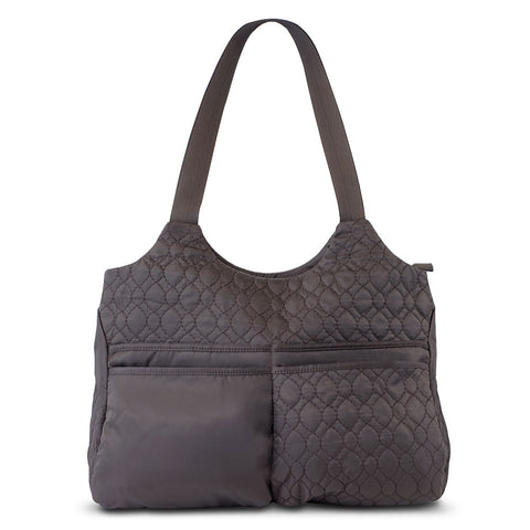 Travelon Nylon Quilted Brown Hobo Style Tote Bag - cheapbuynsave.com - 1