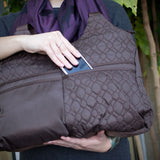 Travelon Nylon Quilted Brown Hobo Style Tote Bag - cheapbuynsave.com - 6