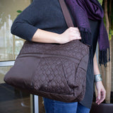 Travelon Nylon Quilted Brown Hobo Style Tote Bag - cheapbuynsave.com - 7