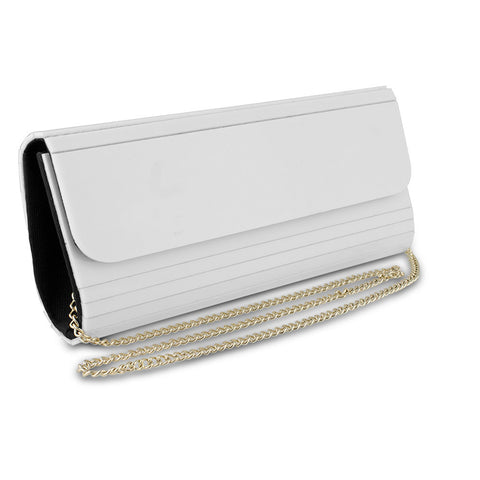 Mad Style Acrylic Elongated Clutch, White - cheapbuynsave.com