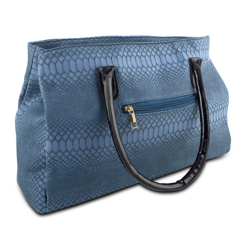 Mad Style Blue Matted Snake Tote - cheapbuynsave.com - 1