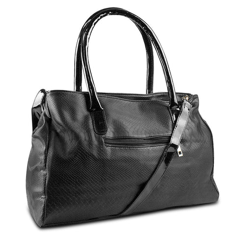 Mad Style Black Matted Snake Tote - cheapbuynsave.com - 1