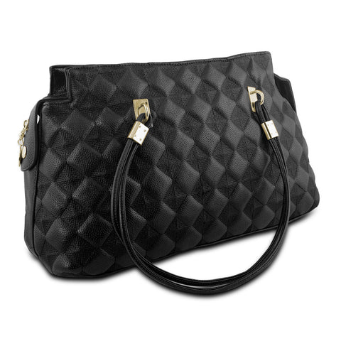 Mad Style Embossed Satchel, Black - cheapbuynsave.com