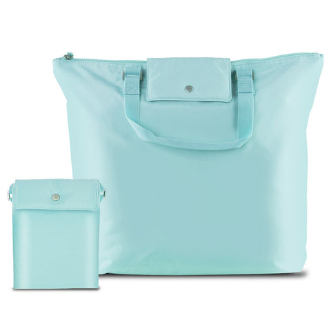Compact Foldable Carry-All Tote Bag, Baby Blue From HSU Concepts - cheapbuynsave.com - 1