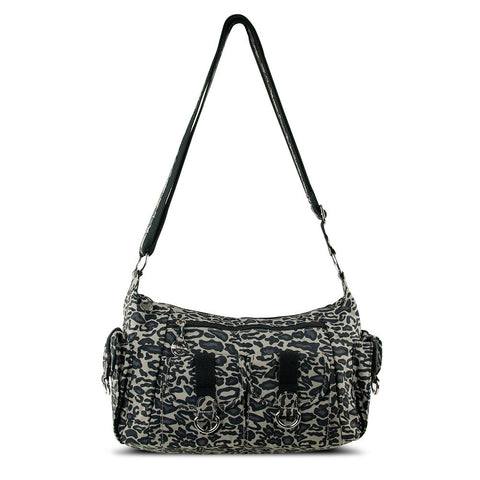 Adjustable Organizer Hobo Bag w/ Cargo Pockets, Leopard - cheapbuynsave.com - 1
