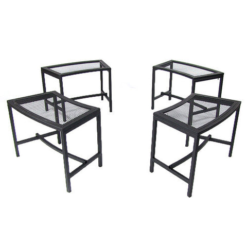 Black Mesh Patio Backyard Fire Pit Bench - cheapbuynsave.com - 1