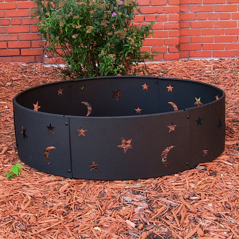 "Sunnydaze 36"" Cosmic Stars and Moon Campfire Ring - cheapbuynsave.com - 1"