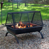 Sunnydaze Northland Backyard Patio Large Grill Fire Pit - cheapbuynsave.com - 1