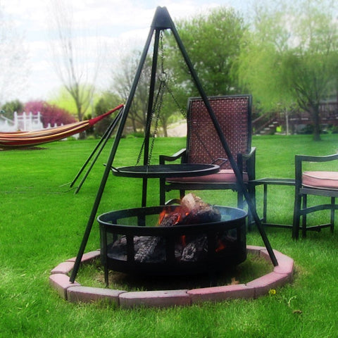 "Fire Pit Tripod Grill w/ 22"" Cooking Grate by Sunnydaze - cheapbuynsave.com - 1"