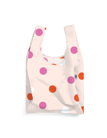 Polka Face Reusable Shopping Bags