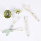 4PK Bamboo Cutlery Star Mix