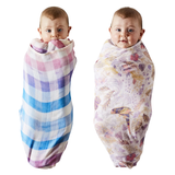 LITTLE PARADISO & ACROSS THE BORDER BAMBOO BABY SWADDLE SET