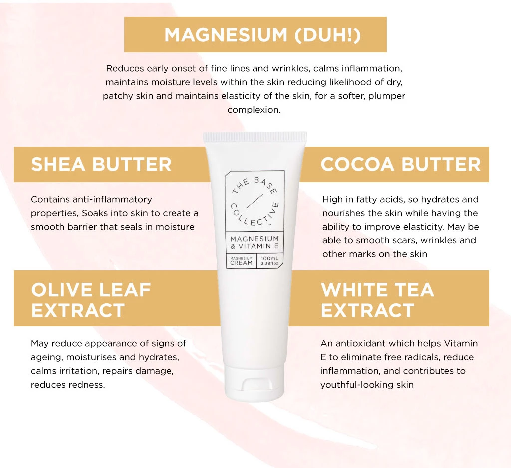 Magnesium and Vitamin E Cream 100ml