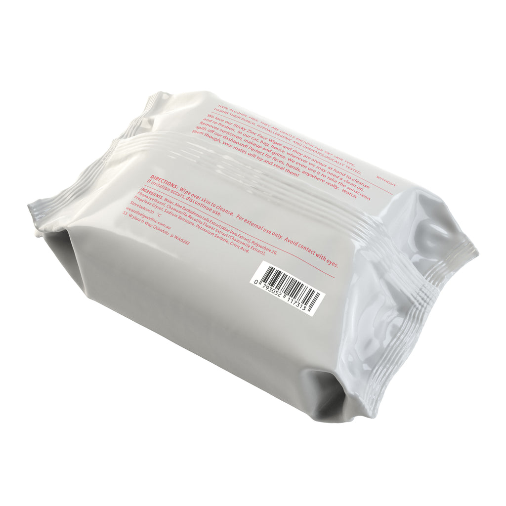 Sticky Zinc Face Wipes