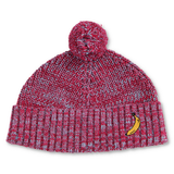 VERY BERRY SPECKLES RIB KNITTED BEANIE