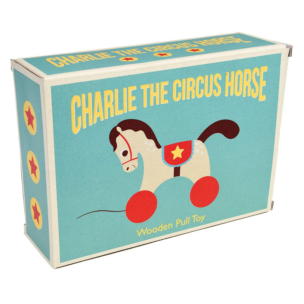 Wooden Pull Toy - Circus Horse