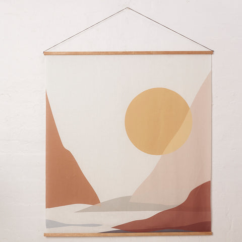 Mountain, Lake. Wall Hanging