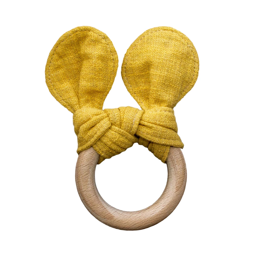 Mustard the Bear Teether