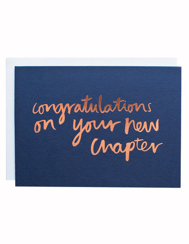 Congrats on Your New Chapter Card