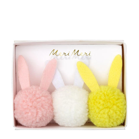 Hairties Bunny Pom Pom 3Set
