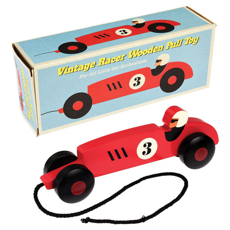 Vintage Racer Pull Toy
