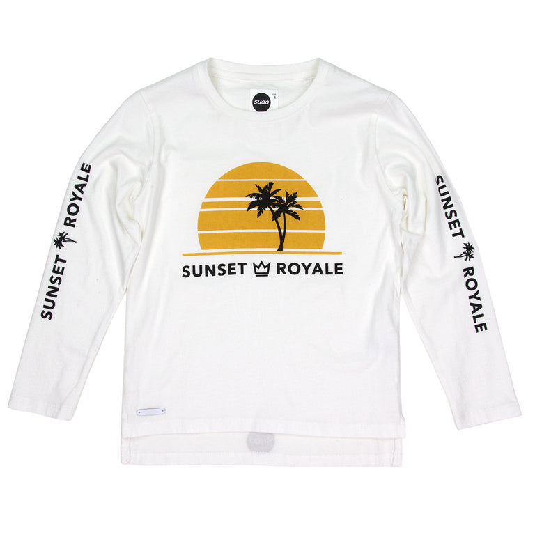 SUDO Sunrise Longsleeve Tee Retro White