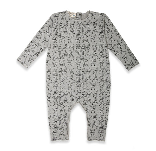 Band of Boys Organic Baby Monster Mash Up Romper