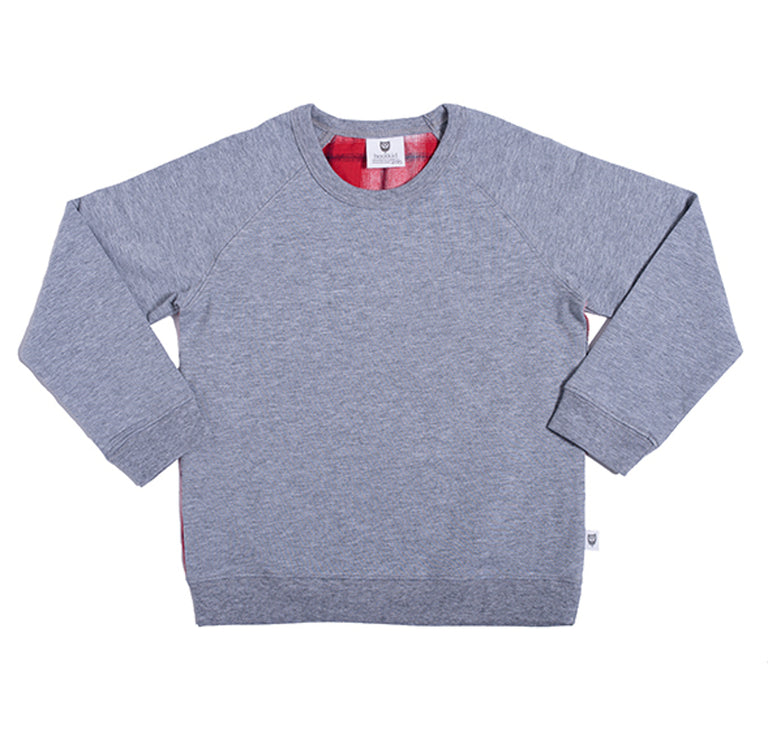 Hootkid Skater Boys Sweat Light Grey Marle