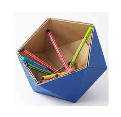 Kolor Cardboard Desk Tidy Dark Blue