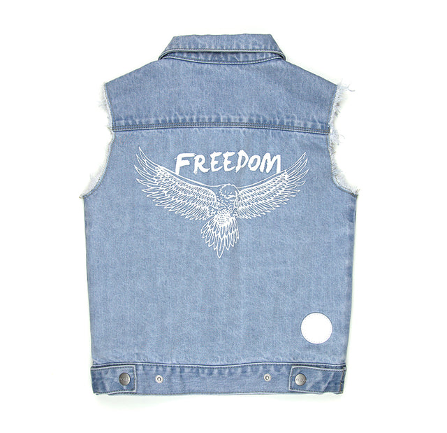 SUDO Denim Vest Coast Blue