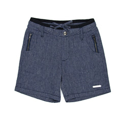 SUDO Oscar Linen Shorts Oxford Blue