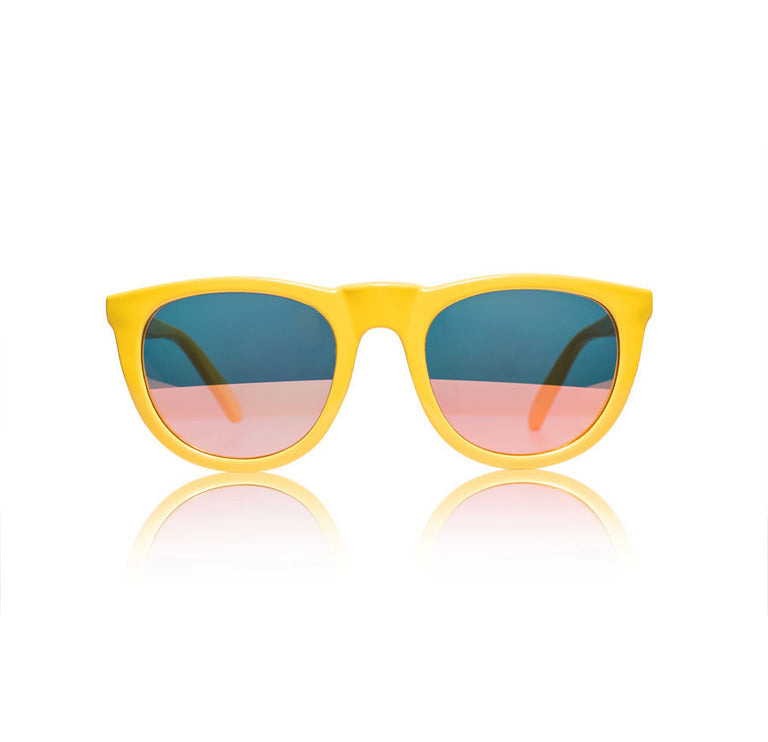 Sons + Daughters Eyewear Bobby Deux Yellow w/ Pink Revo