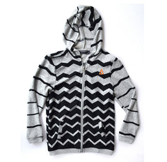 Triangle Ziggy Zip Up Hood