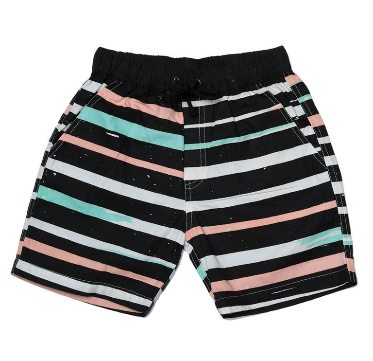 Zuttion Boat Shorts Grunge Stripes