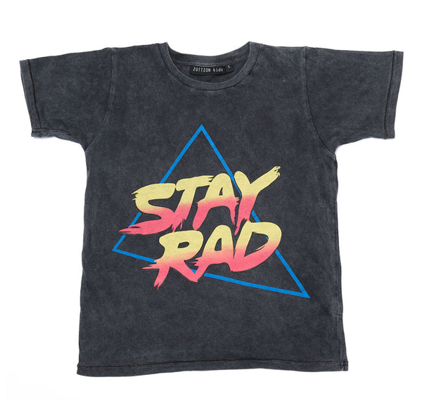 Zuttion Stay Rad Round Neck Tshirt