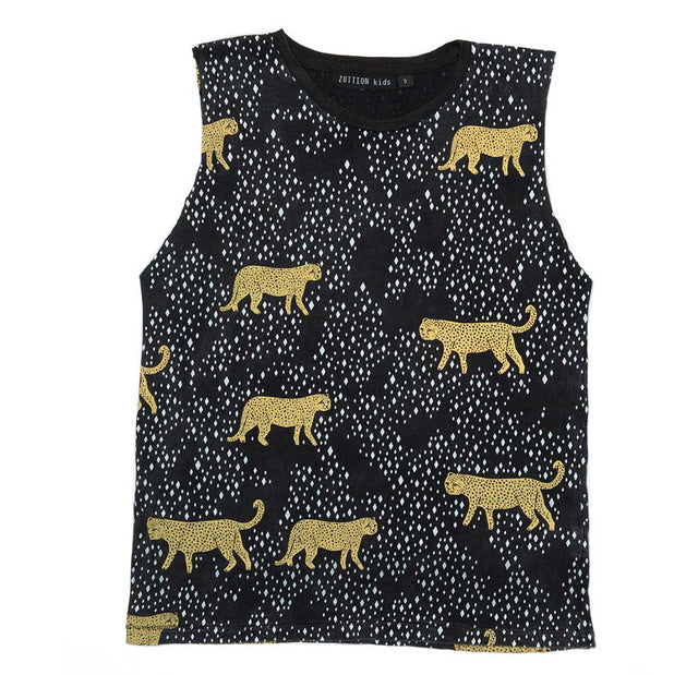 Zuttion Leopard Diamond Tank Top