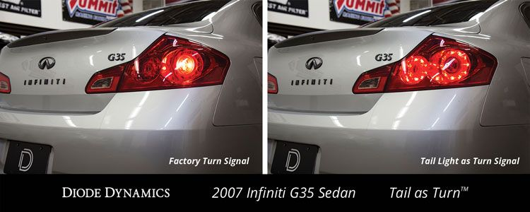 2003-2008 Infiniti G35 Sedan Tail as Turn™ Module (USDM) (pair)