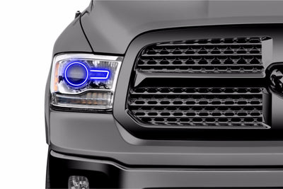Dodge Ram PROJECTOR STYLE (13-18): PROFILE PRISM FITTED HALOS (RGB)