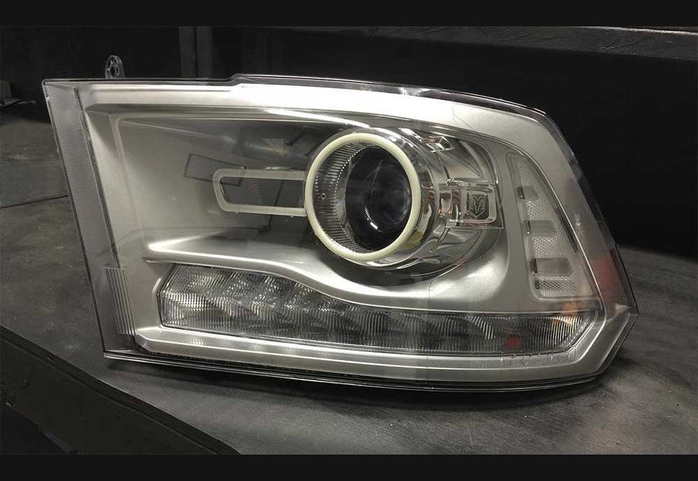 13-18 Dodge Ram Clear Reflectors (Projector Style Headlights)