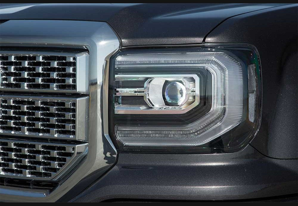 2016+ GMC Sierra Clear Headlight Markers
