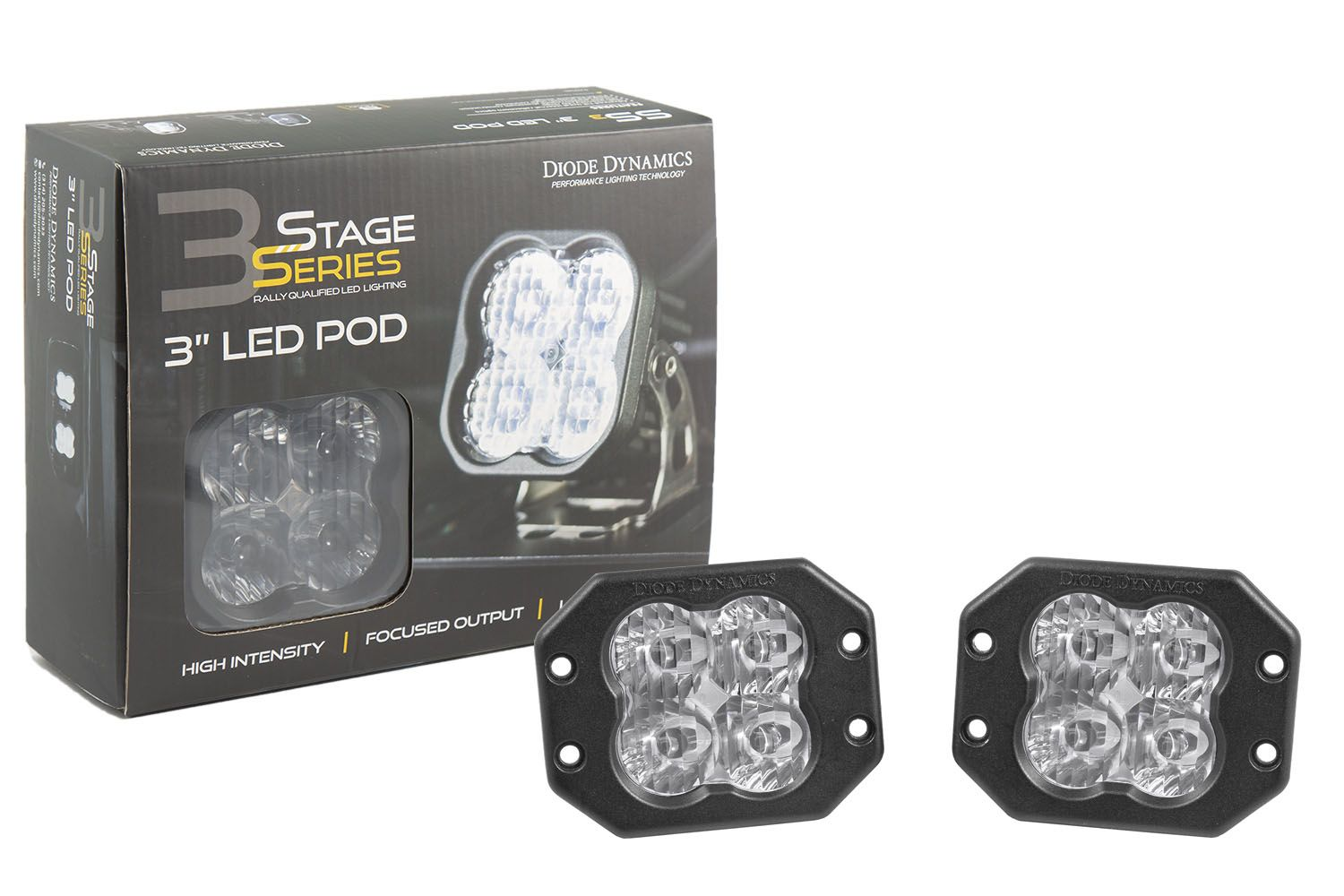 "Stage Series 3"" SS3 White LED Pod Flush Mount (Pair)"