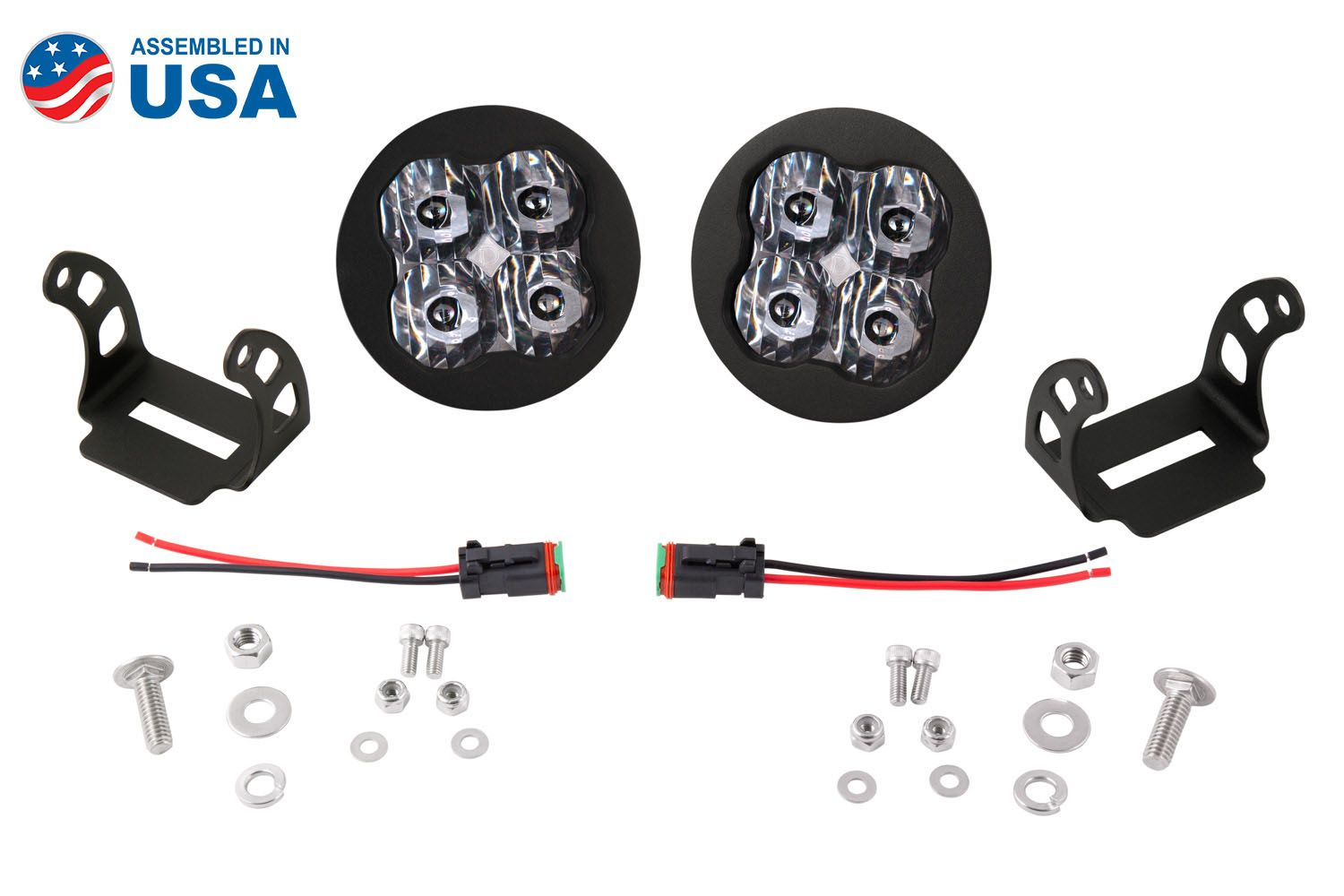 "Stage Series 3"" SS3 White LED Pod Round (Pair)"