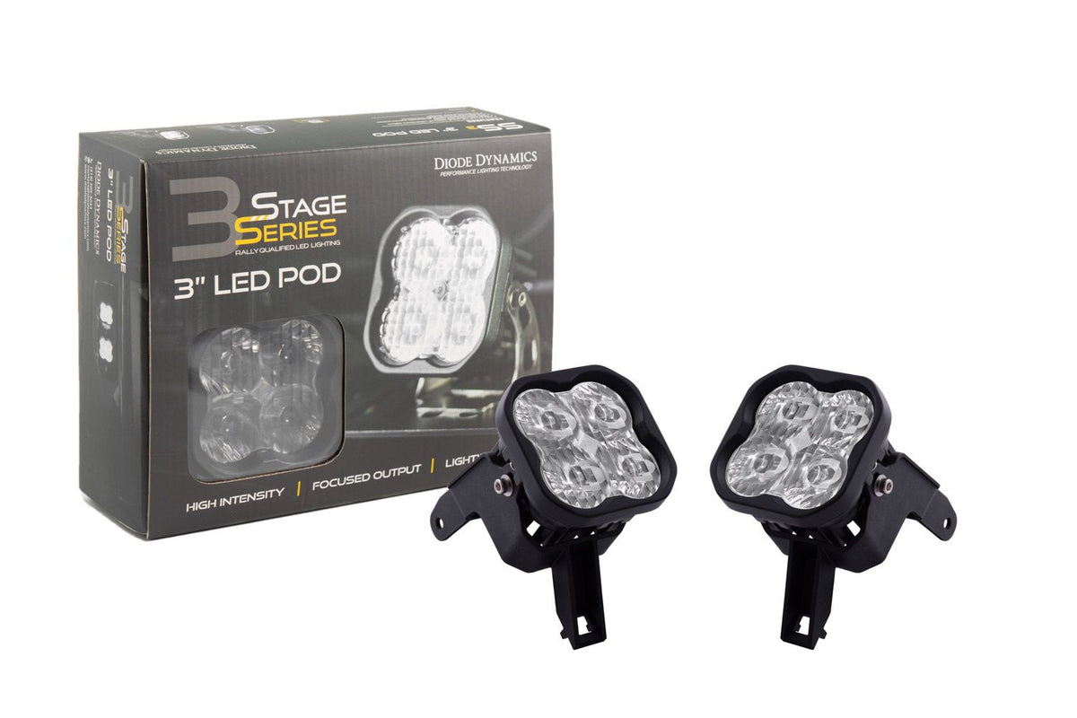 "Diode Dynamics: Stage Series 3"" SAE/DOT Type SDX Fog Light Kit"