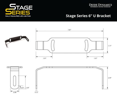 "Stage Series 6"" U Bracket"
